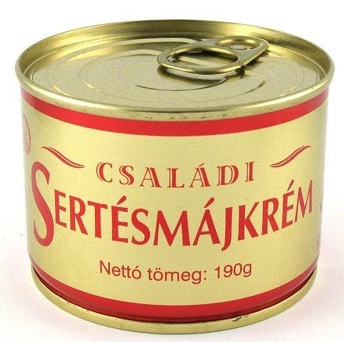 Konzerv Családi sertés májkrém tpz. 190g