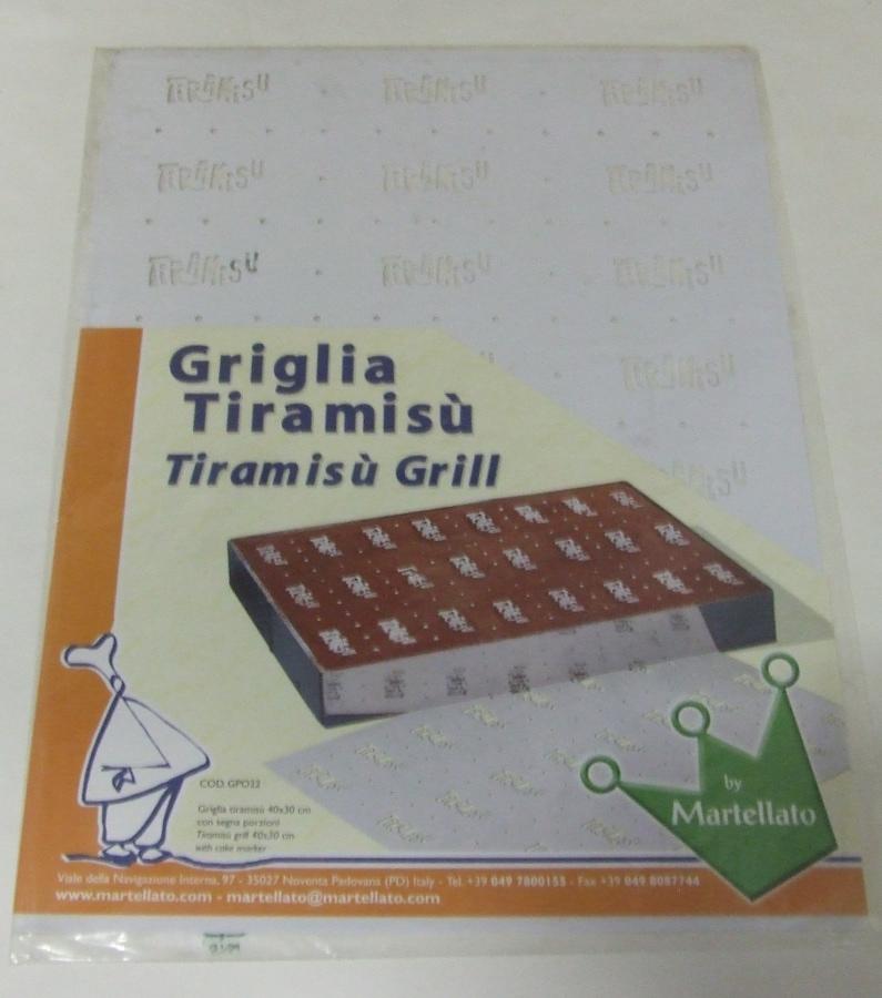 Műanyag Tiramisu sablon 30x40cm