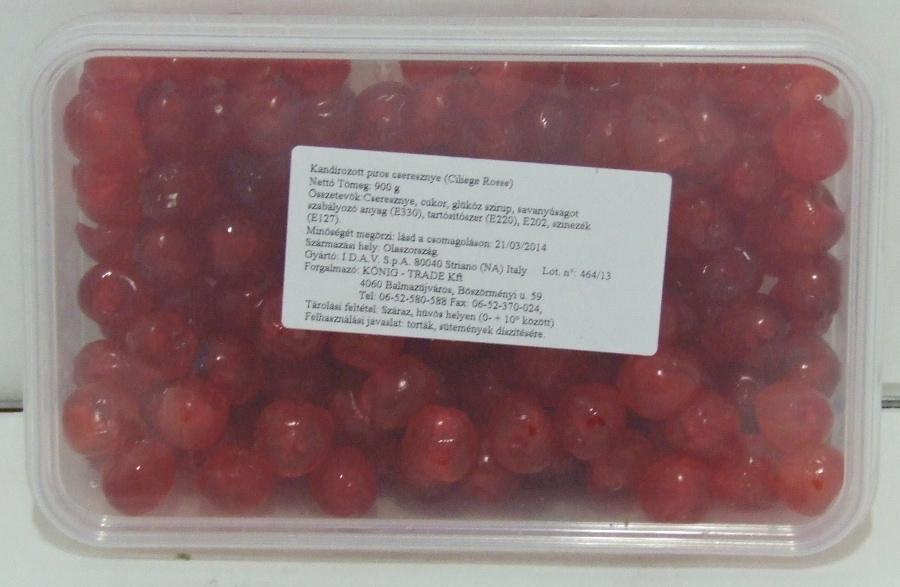 Kandírozott Cseresznye piros 900 gr