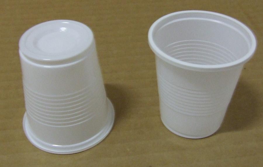 "Műanyag pohár 1 dl fehér 100 db/cs ""L"""