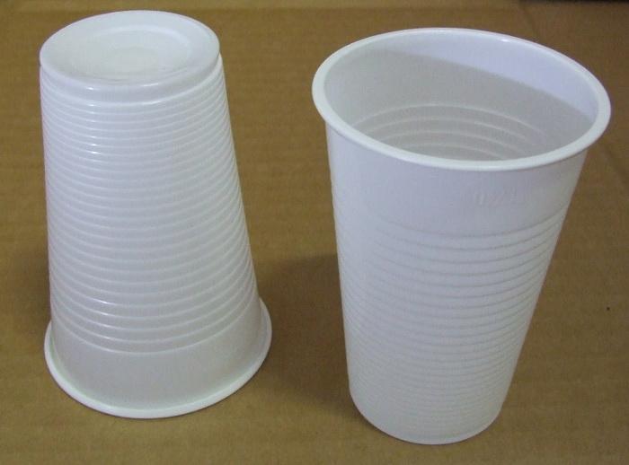 "Műanyag Pohár 2 dl fehér 100 db/cs ""L"""
