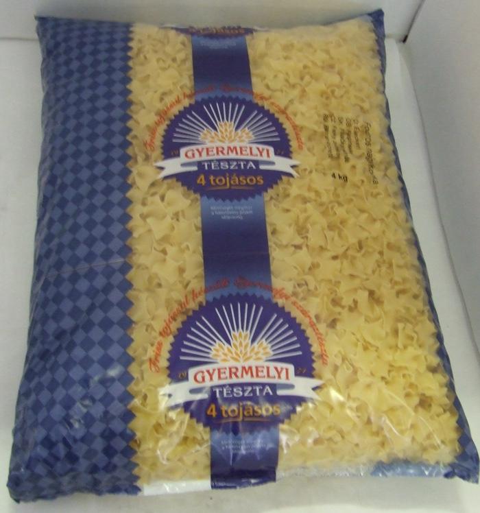 Tészta Fodros Nagykocka 4 kg GYERMELY