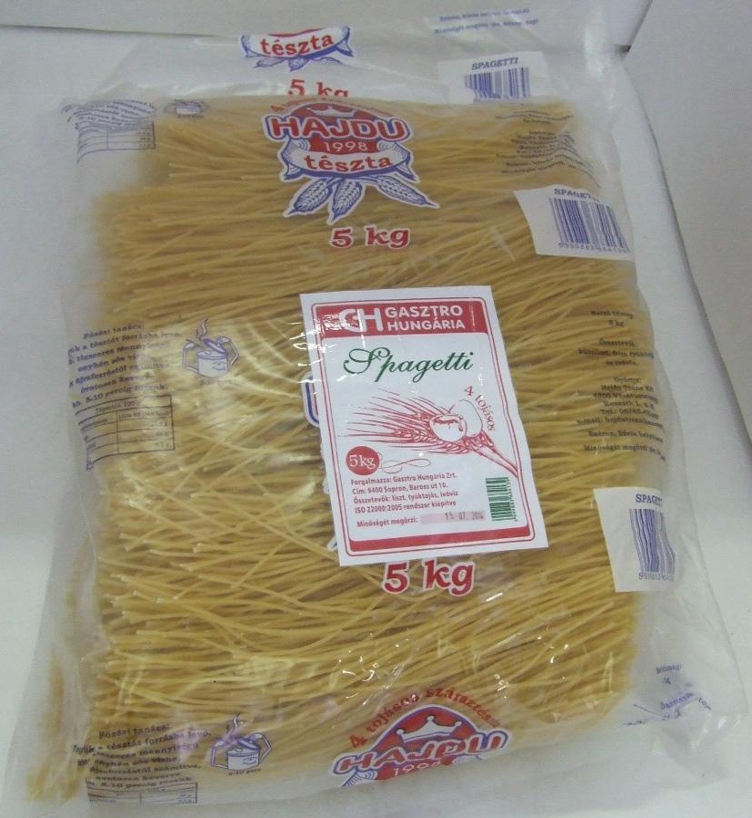 Tészta Spagetti 4 tojásos GH 5 kg